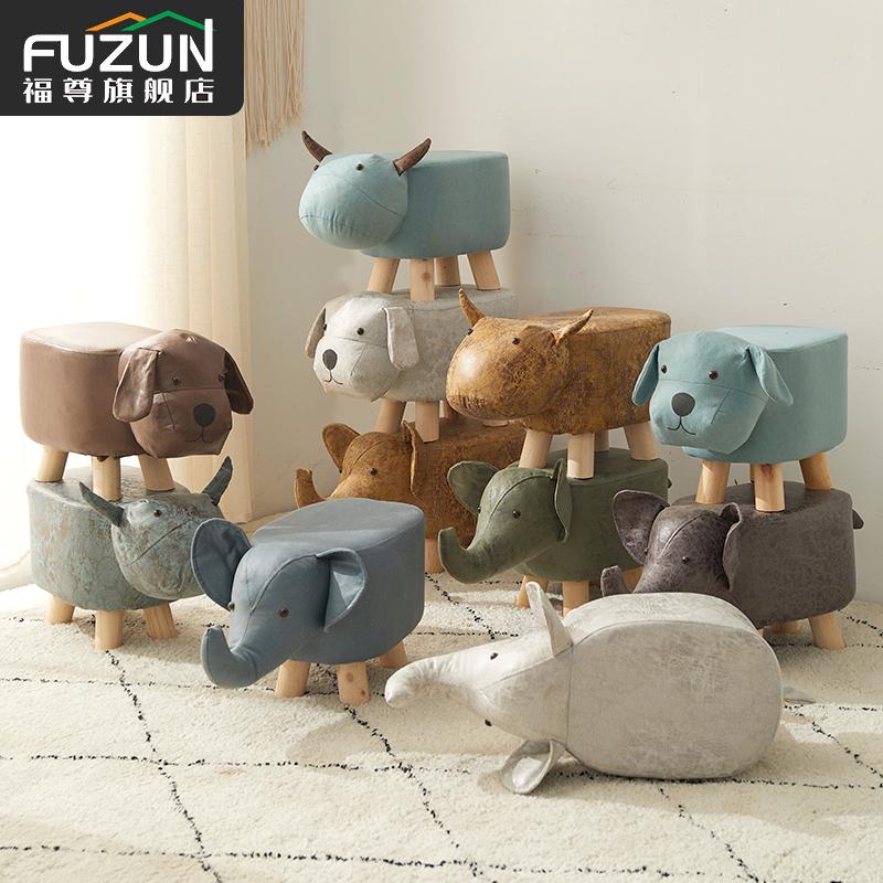 实木动物大象凳子创意矮凳换鞋凳儿童椅小板凳可爱卡通小凳子家用