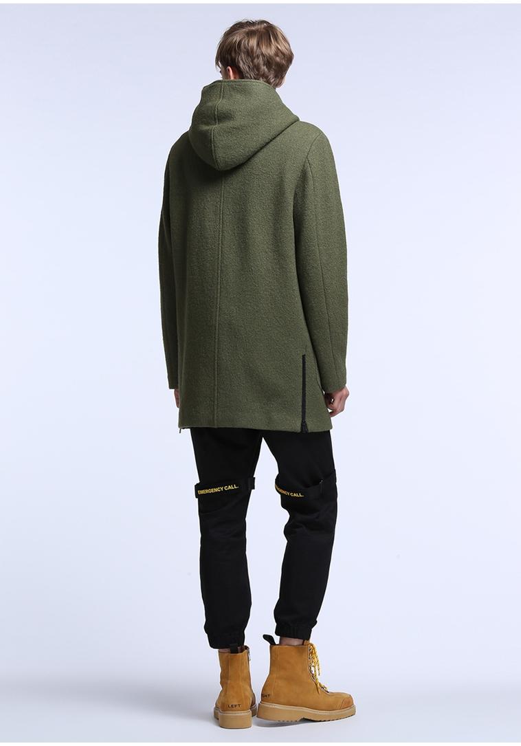 TRENDIANO nam mùa thu và mùa đông dài trùm đầu màu rắn áo len lông 3JC334606P