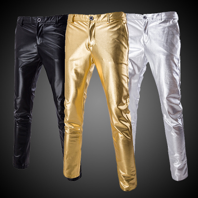 Men's gold silver Jazz Dance Pants  Costumes Casual feet trousers Pants