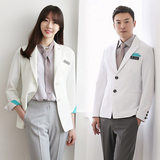 Korean-style doctor uniforms, high-end hospital white coats, short-sleeved doctor uniforms, men and women plastic surgery consultants, beauty coats