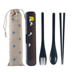 日式便携餐具三件套筷叉勺子套装