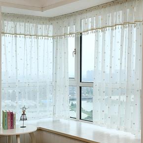 窗帘纱帘透光白纱薄窗纱布料成品特价清仓落地平面飘窗简约阳台纱