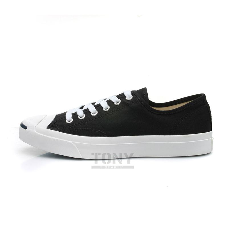 f8da5a1fa7da Jack Purcell LTT Converse open smile black and white canvas shoes ...