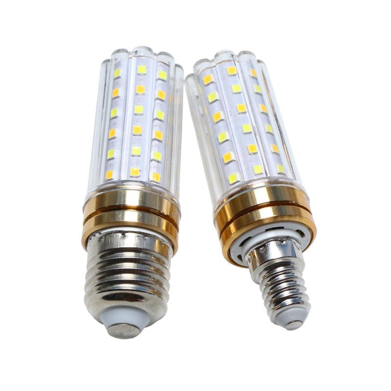 巨祥LED蜡烛灯泡E14小螺口E27玉米灯球泡光源家用三♂色变光节能灯