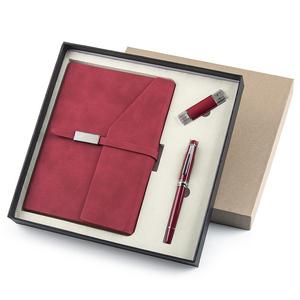 商务皮面笔记本子办公记事本