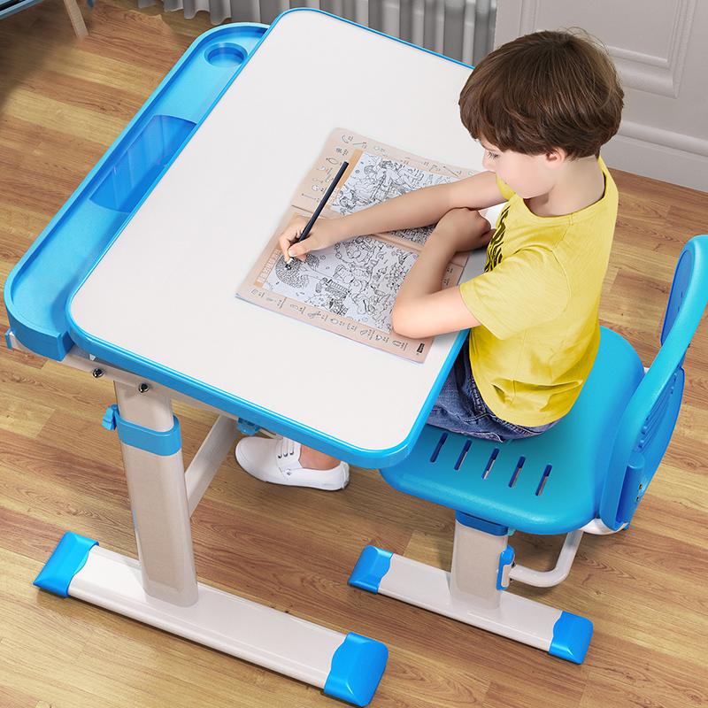儿童学习桌多功能学写字桌小学生作业书桌可升降小孩桌椅组合套装