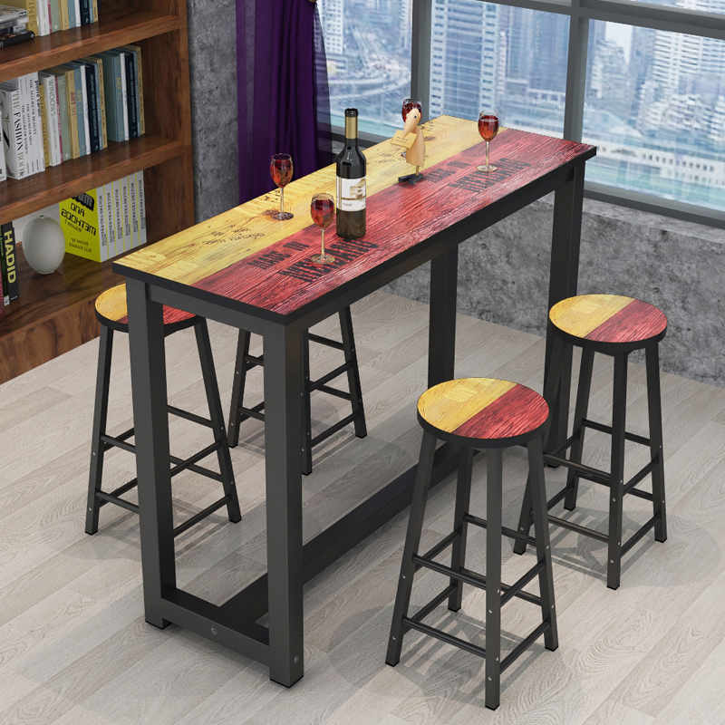 Wrought Iron Home Bar Table Living Room High Bar Table Against The Wall Small Bar Long Bar Table Bar Modern Minimalist Bar