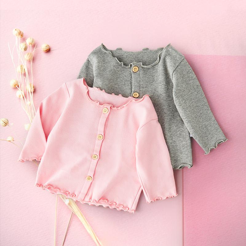 婴儿薄外套开衫春秋女公主洋气小上衣宝宝秋装婴幼儿薄款1岁0秋季