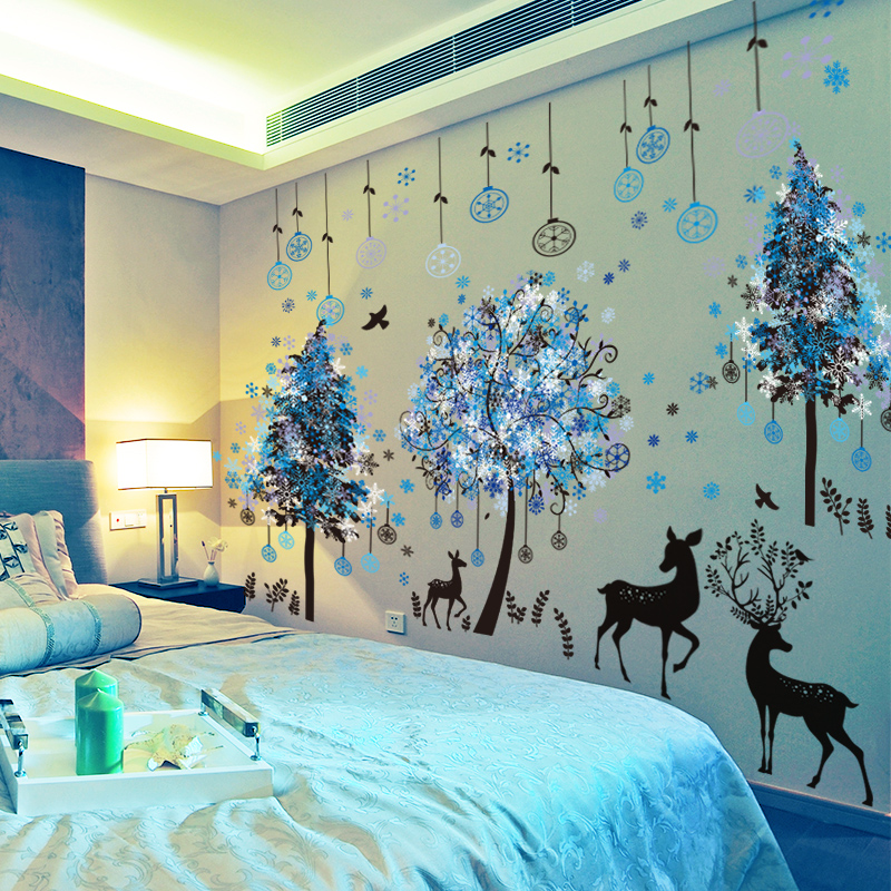 934798bf5db Bedroom warm wall stickers stickers girl room wall decoration rental  arrangement rental housing renovation wallpaper self-adhesive