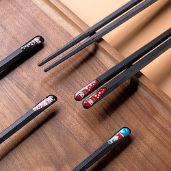 Japanese alloy chopsticks are designed for single person. They are creative, personalized, cute, anti-slip, mildew resistant and high temperature resistant