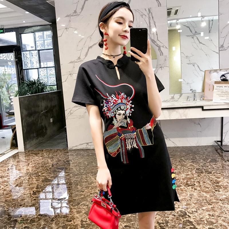 创意女装汉服改良现代国风少女时尚连衣裙春夏名族风