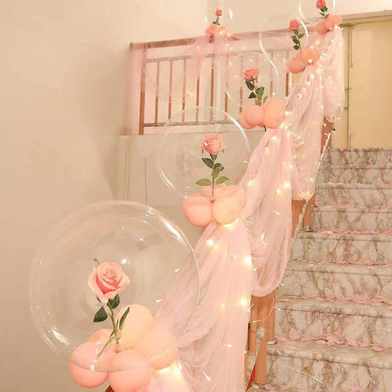 结婚庆用品大全 婚礼婚房布置装饰扶手创意楼梯浪漫拉花纱幔套装
