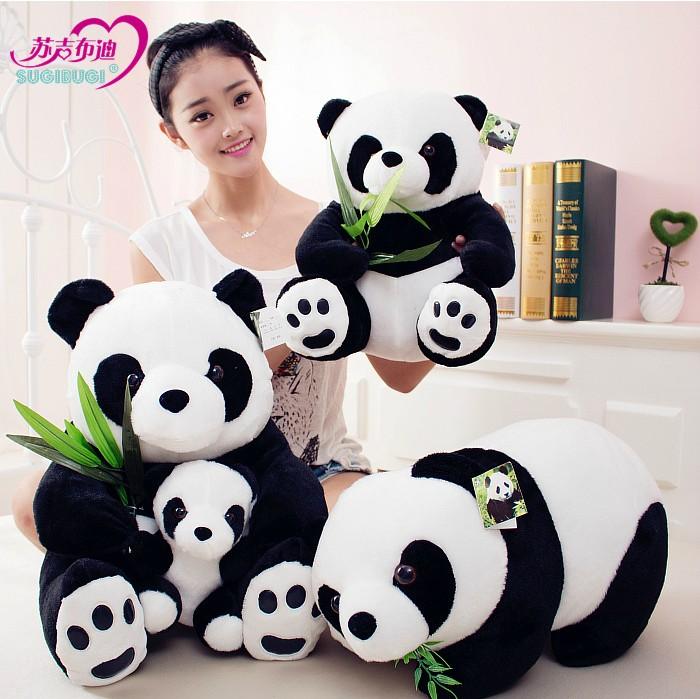 大熊猫熊猫毛绒玩具玩偶公仔黑白可爱大抱抱熊礼物睡觉布娃娃床上