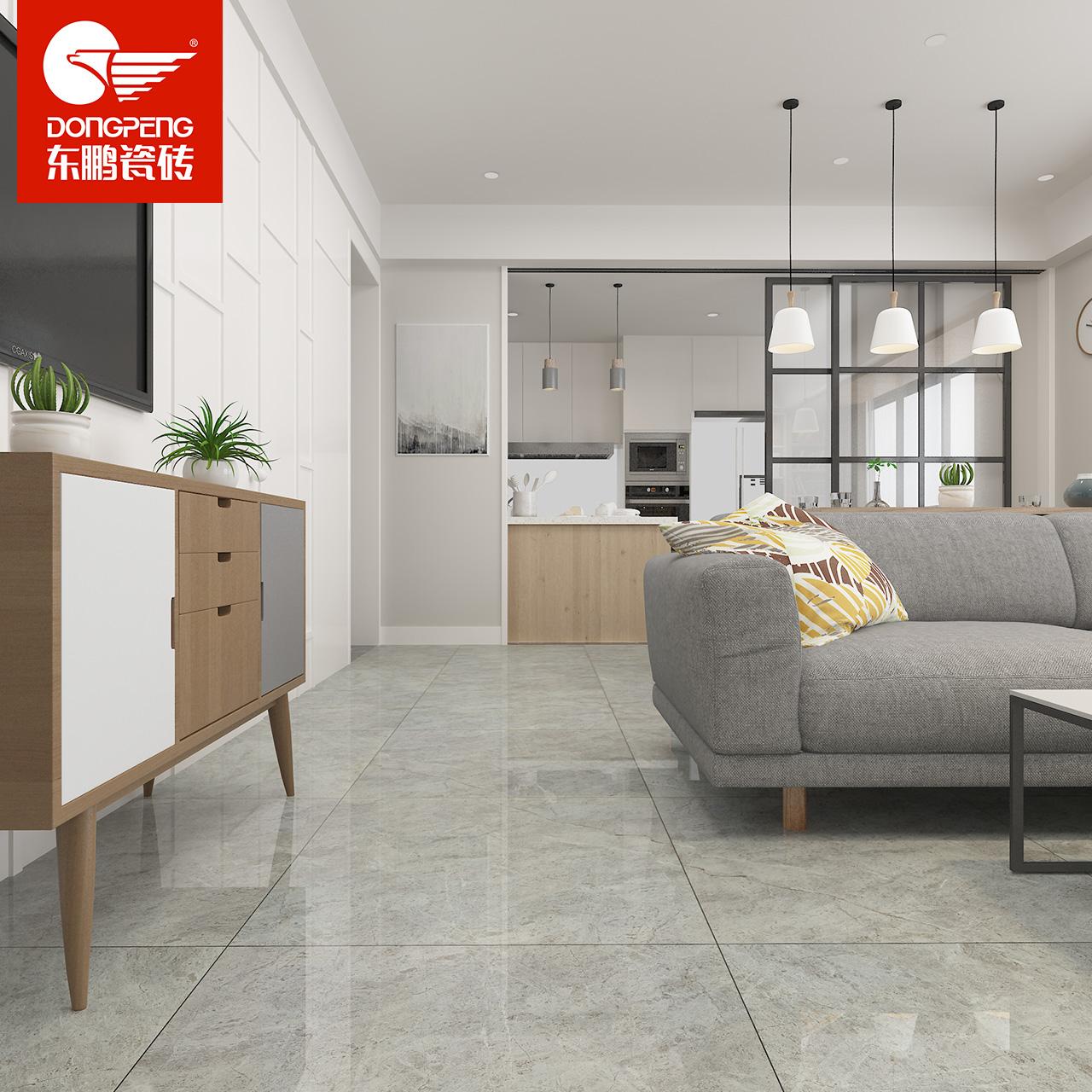 USD 164.21] Dongpeng tile cloud Dora grey floor tiles living room ...