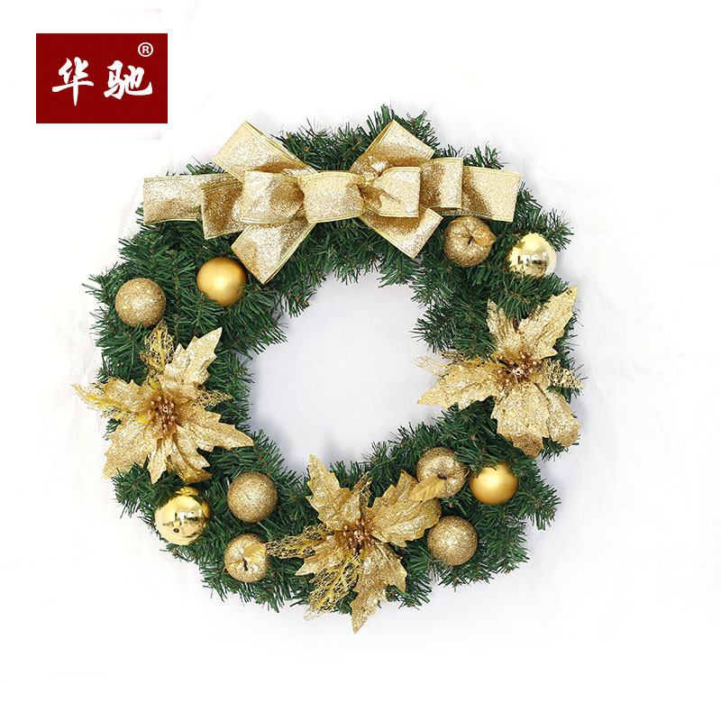 hua chi christmas wreath 80cm christmas wreath pendant door hanging decorative luxury christmas decorations - Christmas Wreath Decorations Wholesale