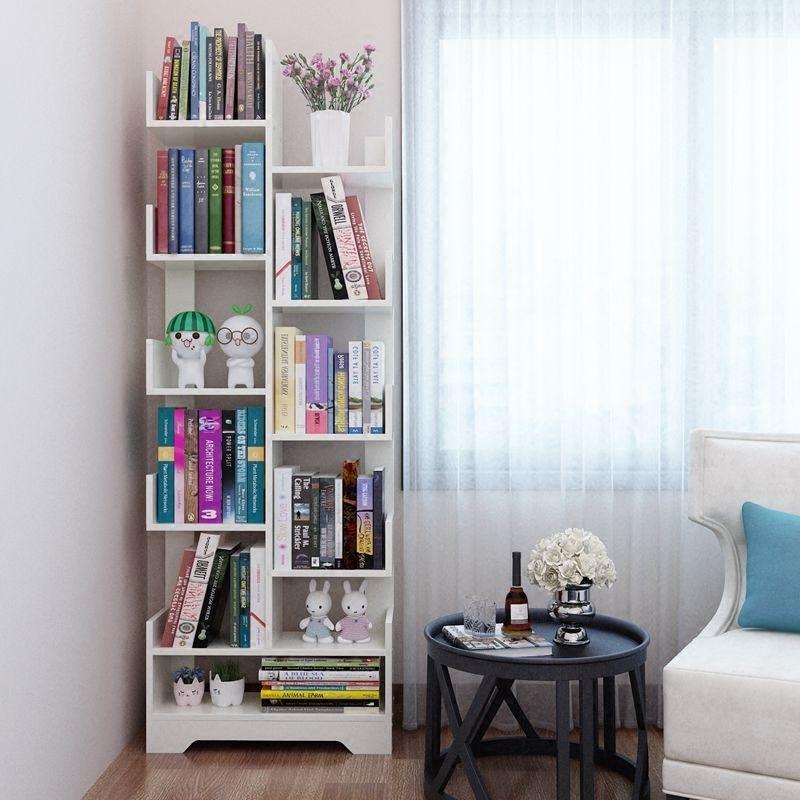 Книжная полка этаж простой современный легко гостиная дерево форма стеллажи ребенок студент дерево сочетание творческий маленькая книга кабинет