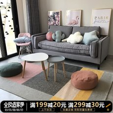Nordic Homestay ins wind / simple modern living room bedroom carpet / geometric fresh Japanese carpet washable
