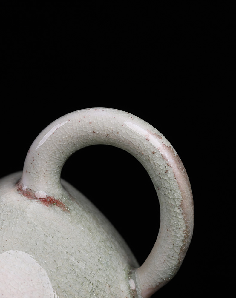 Ceramic masters who the plant ash little teapot one kung fu tea set single pot cracked by hand can have tea