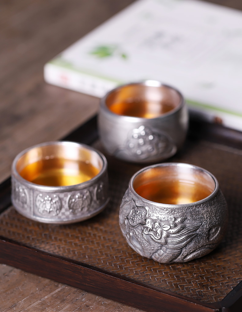 The tea service master cup silver mine loader 999 silver antique checking ceramic cups of tea light sample tea cup a single cup of tea
