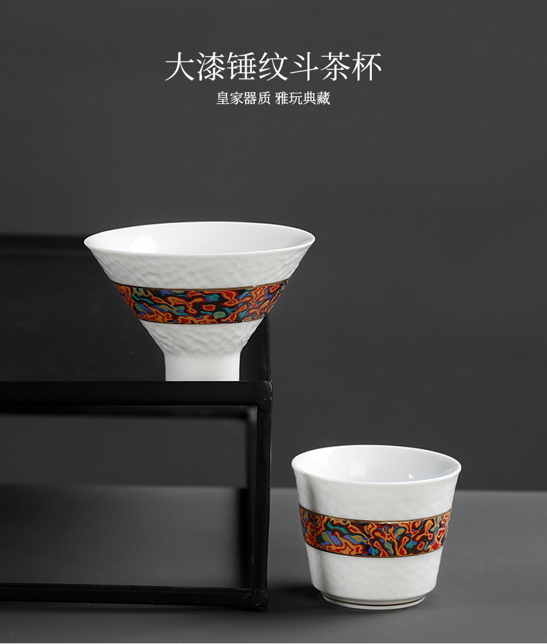 The Master cup bowl with single ceramic tea set perfectly playable cup cup retro move big Japanese kung fu tea cup single trumpet