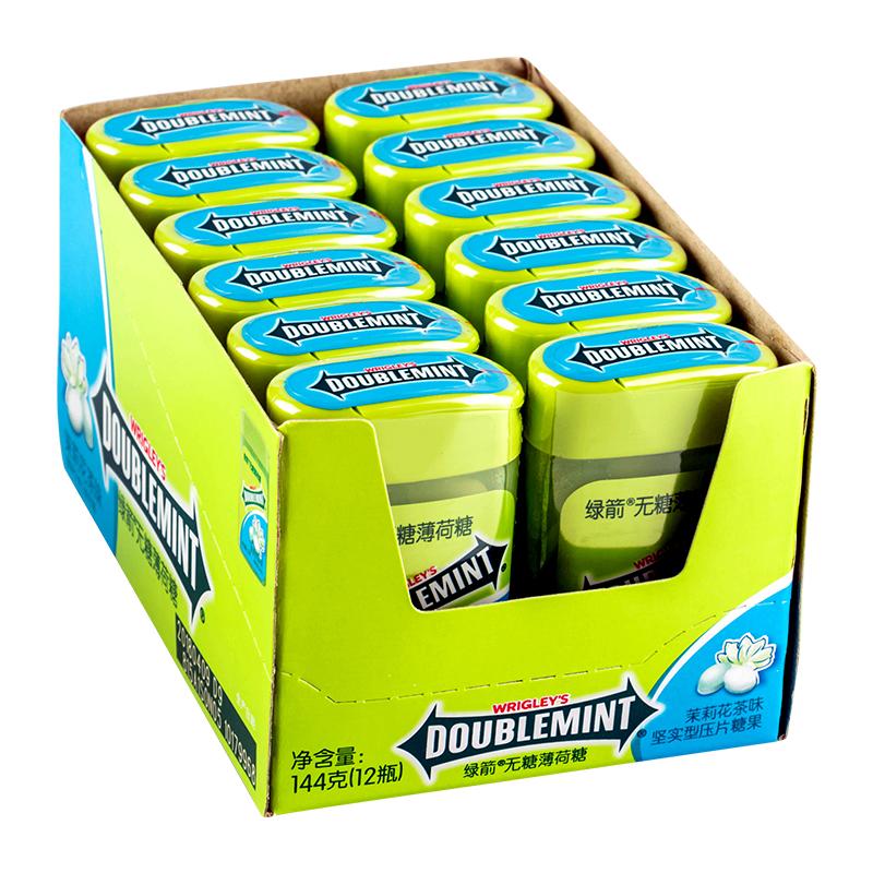【绿箭】清新口气无糖口香糖*8瓶