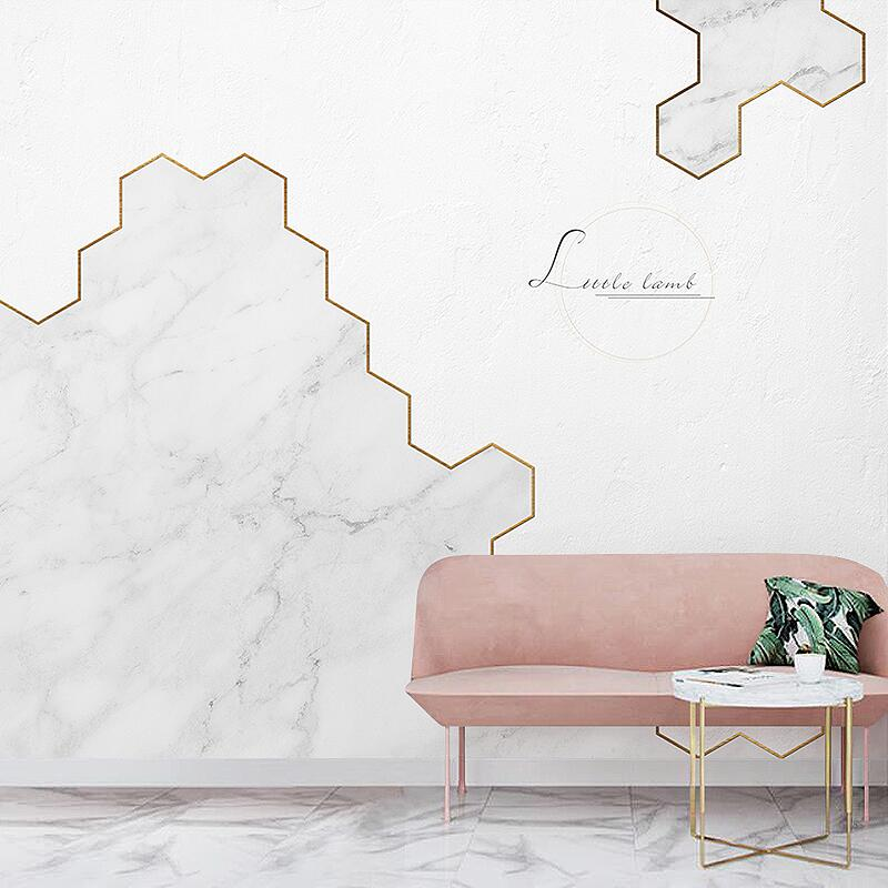 Nordic minimalist ins wind marble wallpaper geometric living room clothing store nail studio decoration background wallpaper