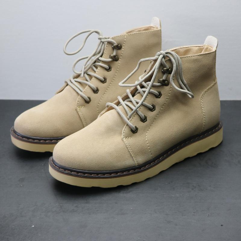 Phiên bản tốt của giày công cụ bằng da bò bền bỉ cho nam và nữ Giày ngắn ngoài trời thấp để giúp đôi giày cao giúp giày nam Martin ủng nữ - Giày ống