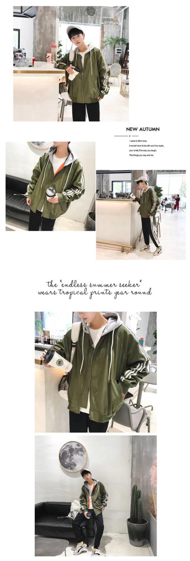 Hàn quốc phiên bản của áo khoác nam mùa xuân và mùa thu xu hướng lỏng đẹp trai hoang dã áo khoác áo khoác sinh viên đồng phục bóng chày quần áo hip hop tide thương hiệu
