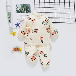 Newborn baby clothes suit autumn and winter outer wear-season split cotton newborn baby cotton padded out clothes