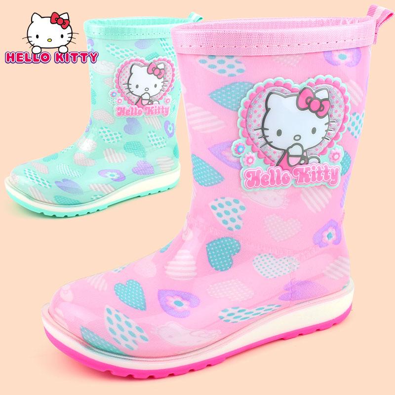 HelloKitty девочки сапоги скольжение девушка ребенок вода обувной ребенок клей обувной студент милый принцесса сапоги