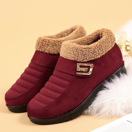 防滑中老年棉鞋女老北京布鞋冬季妈妈鞋加绒保暖老人鞋厚底高帮鞋