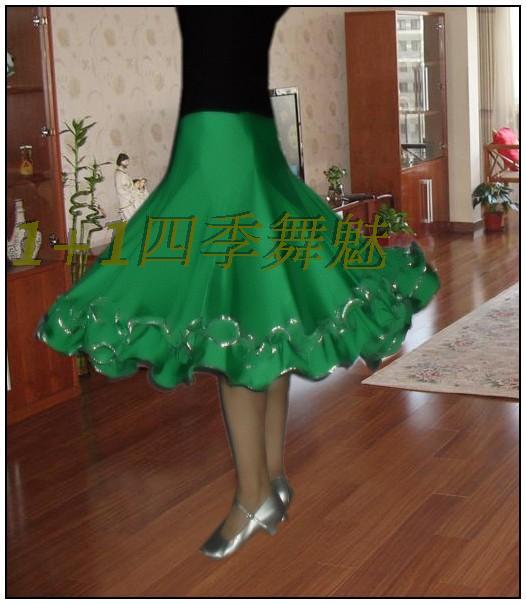 Váy khiêu vũ Latin váy khiêu vũ hiện đại Váy khiêu vũ váy nhảy múa váy jitba nửa chiều dài váy swing vuông nhảy váy thực hành - Khiêu vũ / Thể dục nhịp điệu / Thể dục dụng cụ
