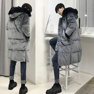 韩国冬季加厚金丝绒棉袄情侣面包服外套
