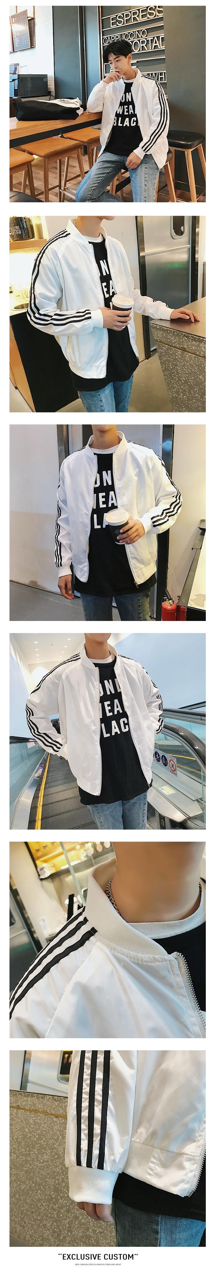Mùa xuân người đàn ông mới của đẹp trai hoang dã áo khoác mỏng Hàn Quốc phiên bản của xu hướng của sinh viên Hồng Kông gió áo khoác dài tay quần áo giản dị