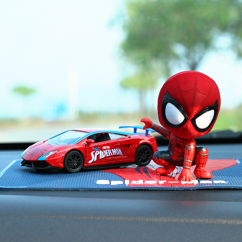 White  A Spiderman + Red Sports Car