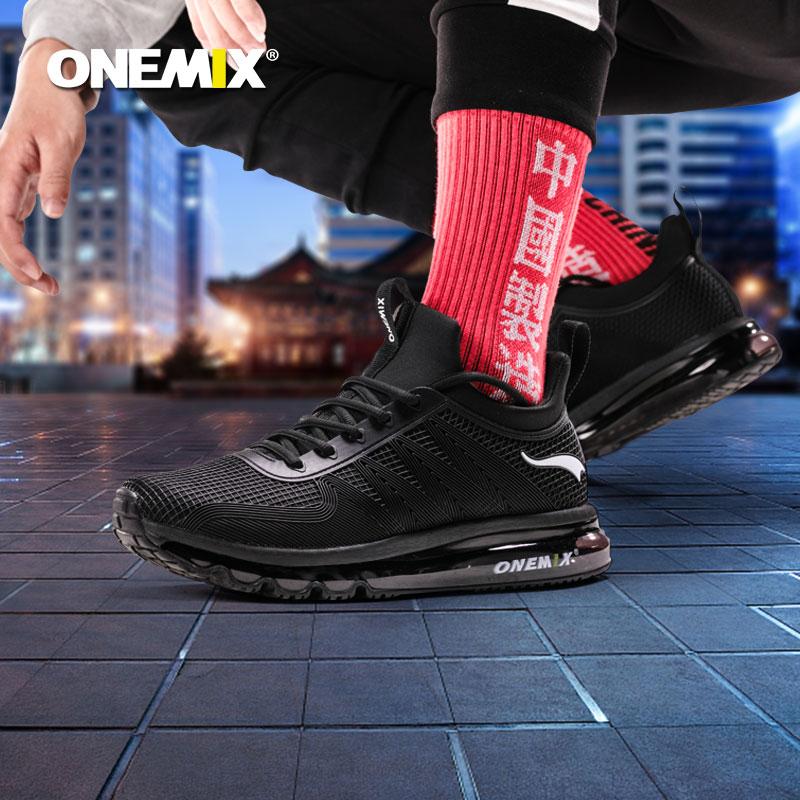 耐克代工厂出品 onemix 玩觅 男女同款 全掌气垫减震跑步鞋 天猫优惠券折后¥99包邮(¥299-200)多色可选 送袜子+鞋带