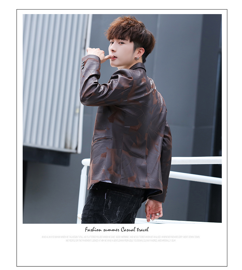 Suit men Korean version slim men casual small suit trend handsome single western coat autumn and winter youth clothes 49 Online shopping Bangladesh