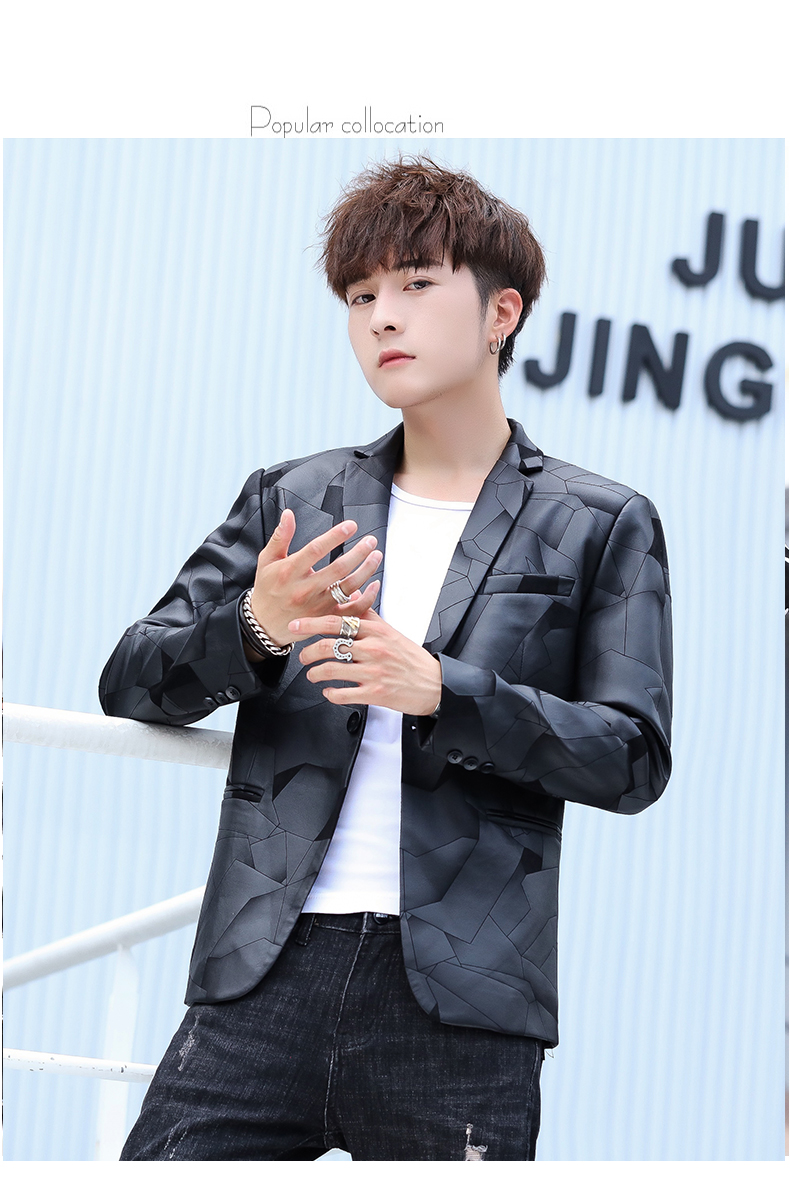 Suit men Korean version slim men casual small suit trend handsome single western coat autumn and winter youth clothes 56 Online shopping Bangladesh