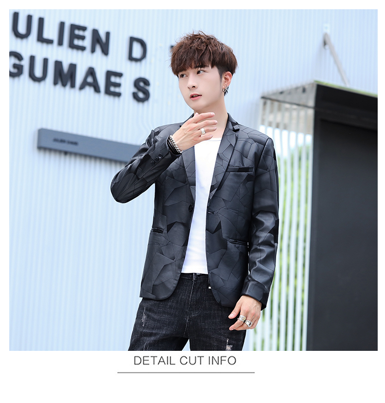 Suit men Korean version slim men casual small suit trend handsome single western coat autumn and winter youth clothes 58 Online shopping Bangladesh