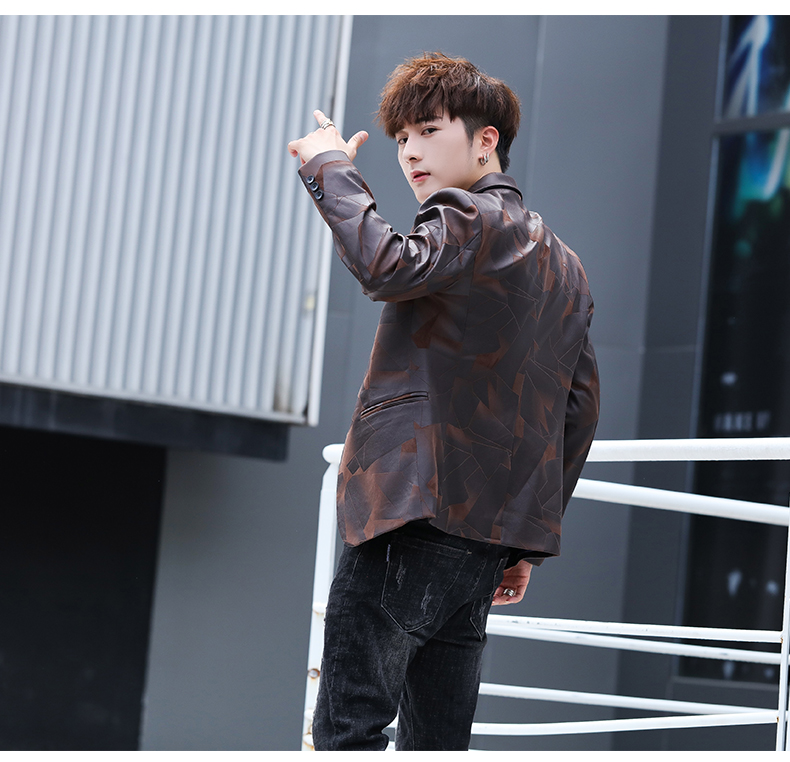 Suit men Korean version slim men casual small suit trend handsome single western coat autumn and winter youth clothes 50 Online shopping Bangladesh