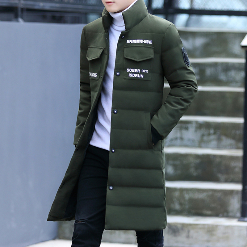 Cotton men in the long section of the winter coat Korean slim winter clothes  men s cotton bf9f181693d