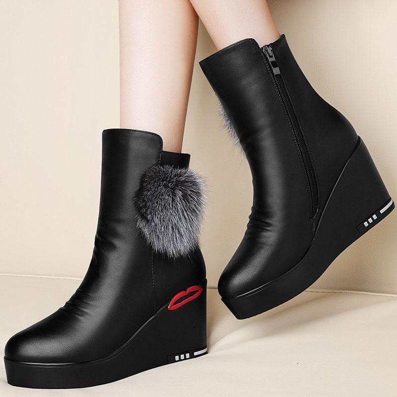 2017冬季新款百搭加绒雪地靴