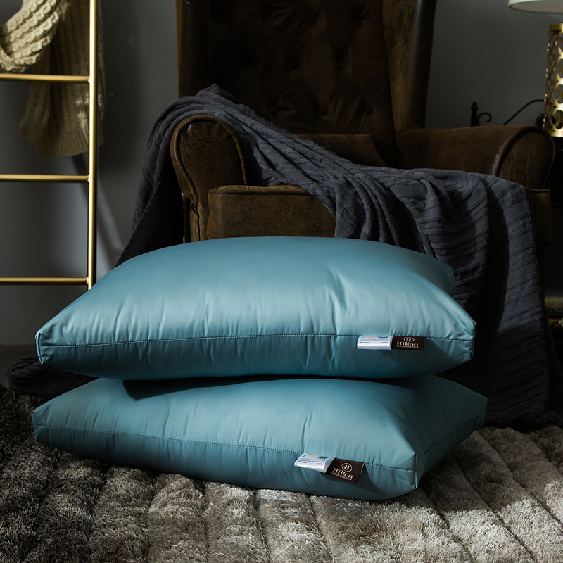 五星级酒店枕芯羽丝绒枕芯白绒枕枕头单人护颈枕【一对装】