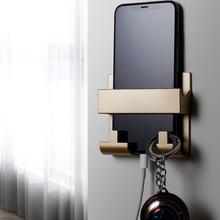 粘贴式免打孔置物架墙壁手机支架
