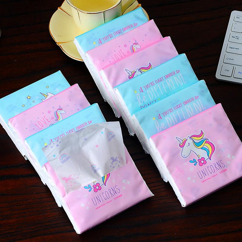 实惠装卡通印花抽纸小包婴儿纸巾彩色面巾纸家用可爱卫生纸餐巾纸