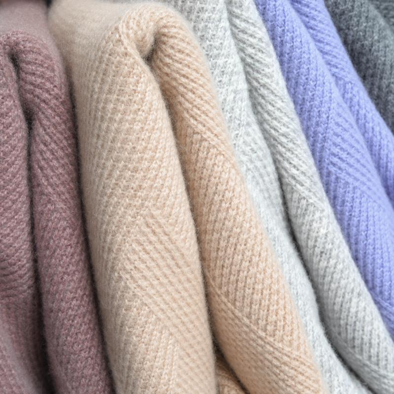 19 mùa thu mới và mùa đông nam áo len cashmere nguyên chất nửa cao cổ dày áo len dệt kim ấm áp - Áo len Cashmere