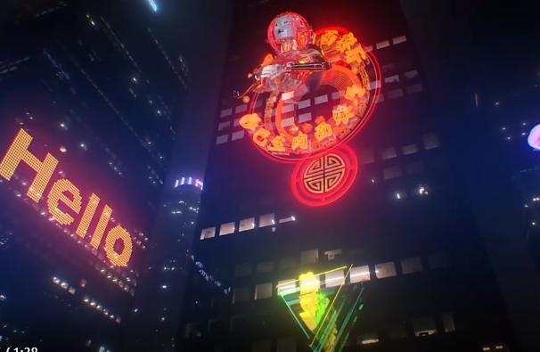 【A198】4K视频素材-251个未来科技赛博朋克发光图形元素特效合成动画 (有透明通道) Cybercity Pack