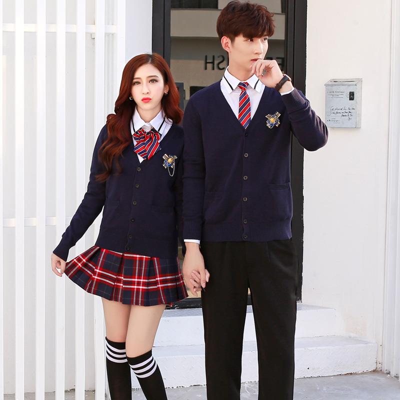 31b0c327266 School uniforms suit college wind adult autumn Korean cardigan ...