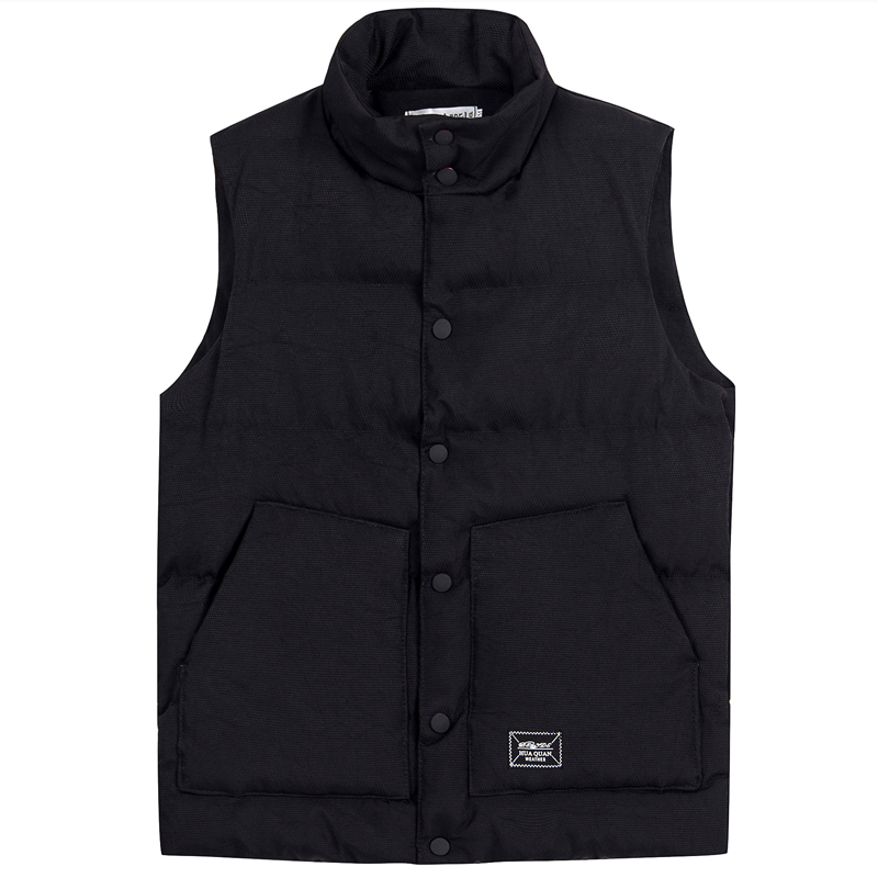 Безрукавка Зима корейский стиль без рукавов хлопок жилет мужчин Slim-подходят красивый мягкий жилет молодежного покроя короткая куртка