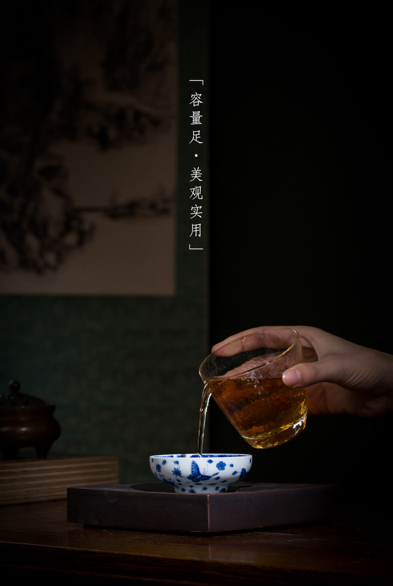 Holy big ceramic kung fu masters cup hand - made porcelain cups made inside and outside the recent tea light jingdezhen tea by hand